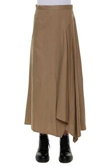 YOHJI YAMAMOTO Flared draped on the side skirt