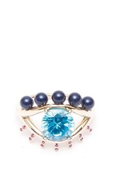 KENZO 'Precious eye ring' gold pleated ring. 4,75 GR