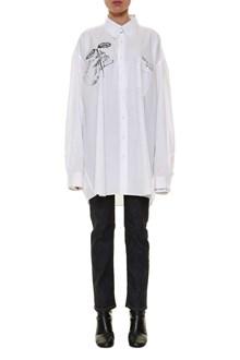 MAISON MARGIELA Embroidered oversize shirt