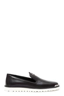 GIUSEPPE ZANOTTI DESIGN 'Kost' leather mocassin with logo