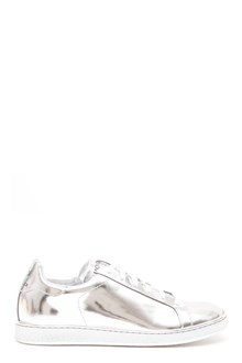 MONCLER GAMME ROUGE Sneaker argentata con lacci bianche