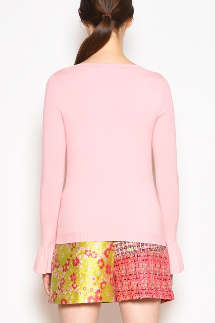 BOUTIQUE MOSCHINO Crew-neck jersey with cuffs details