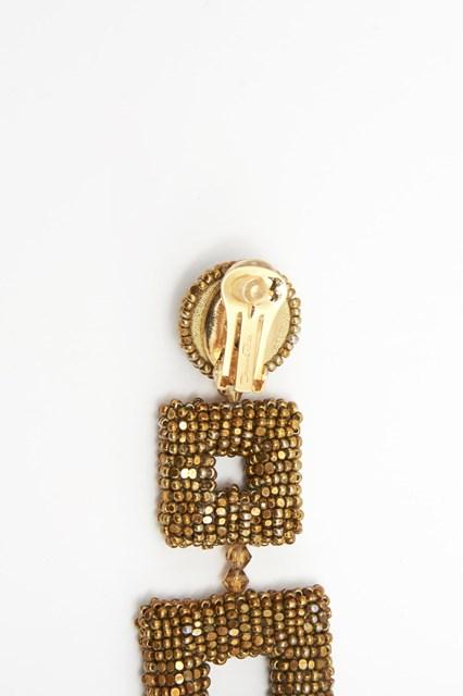 OSCAR DE LA RENTA Square drop earrings