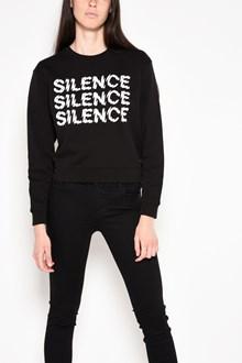 McQ ALEXANDER McQUEEN 'Silence' printed hip length sweatshirt