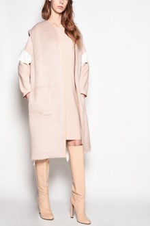 AGNONA Sleeveless coat  with maxi pocket and waist belt