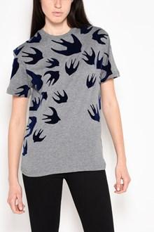 McQ ALEXANDER McQUEEN 'Swallows' velour printed cotton t-shirt