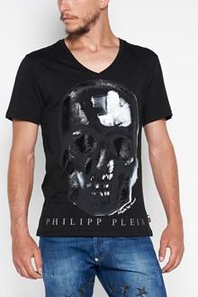 PHILIPP PLEIN V-neck t-shirt with 'Paint three' print