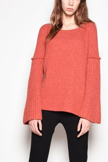 AGNONA Cashmere crew-neck sweater with wide sleeves