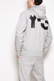 Y-3 Zipped hooded sweatshirt with print on the back