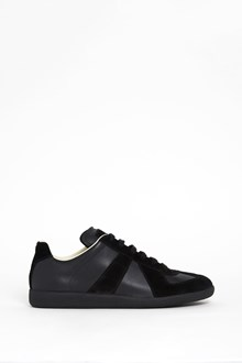 MAISON MARGIELA leather sneaker with velvet details