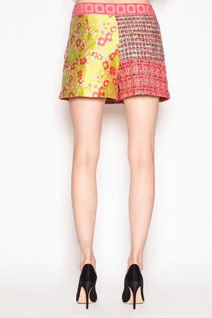 BOUTIQUE MOSCHINO 'Patchwork' multicolor mini skirt