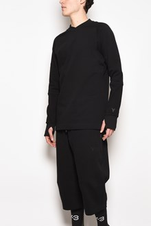 Y-3 Sweatshirt with details on the writs and on the back