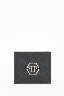 PHILIPP PLEIN Metallic logo leather wallet