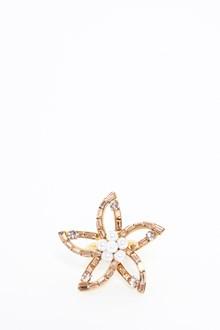 OSCAR DE LA RENTA 'Floral baguette pearl' ring