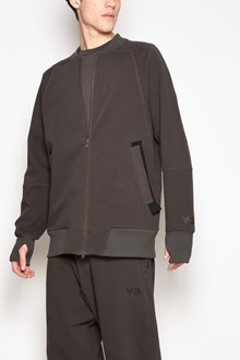 Y-3 Zipped swetashirt with details on wrists, pockets and on the back