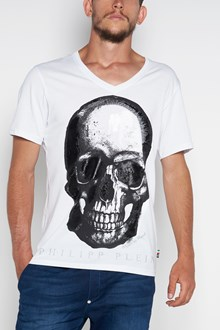 PHILIPP PLEIN 'Paint three' printed v-neck t-shirt