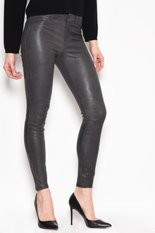 J BRAND Leather mid rise jeans with 5 pockets