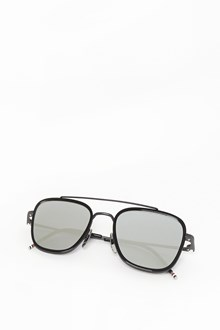 THOM BROWNE Iron black mirrored sunglasses