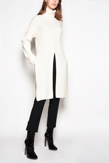 AGNONA Turtleneck sweater with frontal rip