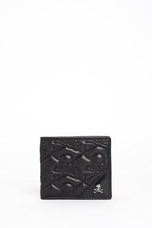 PHILIPP PLEIN 'Melahel' leather wallet with 'Skulls' embroidery