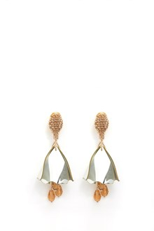 OSCAR DE LA RENTA 'Impatient flower' mini earrings with petals