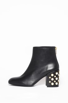 STUART WEITZMAN Leather booties with pearls