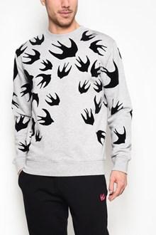 McQ ALEXANDER McQUEEN Clean crew neck 'Swallow' printed sweatshirt