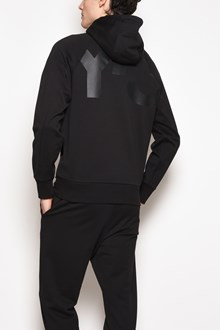 Y-3 Hooded zipped sweatshirt with print on the back