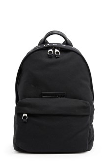 McQ ALEXANDER McQUEEN Nylon black backpack with 'MCQ' printed on front pocket. Zip closure and adustable straps
