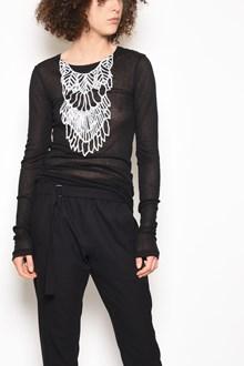 ANN DEMEULEMEESTER T-shirt 'Shiloh' a manica lunga con stampa 'Collier' fronte e retro