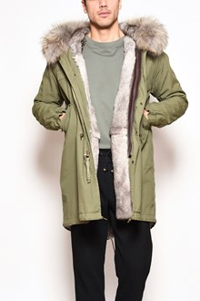 MR & MRS ITALY Canvas long parka,natural lapin lining,hood with Murmasky