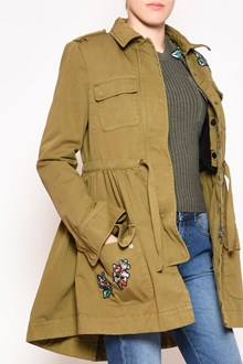 REDVALENTINO Embroidered hooded parka with drawstring