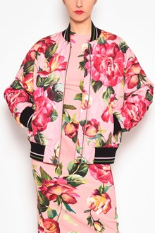 DOLCE & GABBANA 'Roses' all over printed nylon bomber jacket