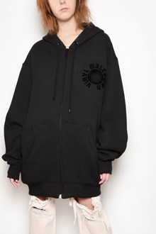 ALEXANDER WANG Zipped printed hooded oversize sweatshirt