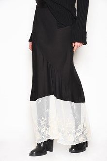 ANN DEMEULEMEESTER 'Infinity' long skirt with lace at bottom