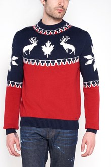 DSQUARED2 Reindeer embroidered sweater