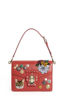 DOLCE & GABBANA 'Lucia' leather bag with patches and applications