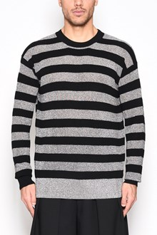 McQ ALEXANDER McQUEEN Wool sweater with black and grey horizontal stripes