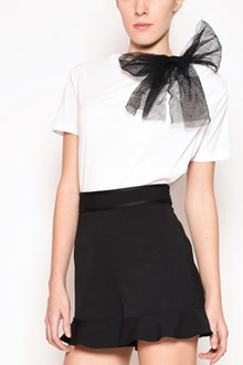REDVALENTINO Cotton t-shirt with tulle bow
