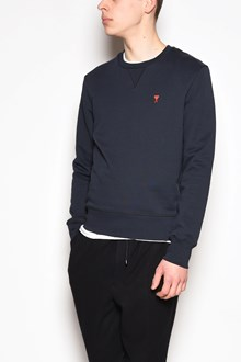 AMI Crew-neck embroidered sweatshirt