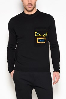 FENDI 'Words' patch on pocket sweatshirt