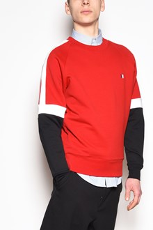 AMI Crew-neck sweatshirt with 3 colors sleeves