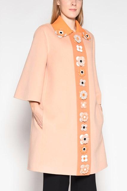 FENDI flowers applications coat