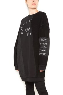McQ ALEXANDER McQUEEN Oversized sweater dress with white print
