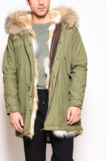 MR & MRS ITALY army long parka ,coyote patch lining,hood with murmasky