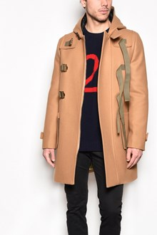 N°21 Hooded zipped coat with logo on the back