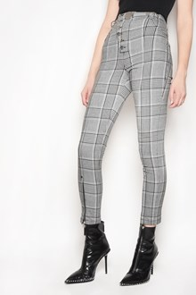 ALEXANDER WANG 'Check' printed high waist trousers with buttons