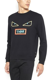 FENDI 'Try' printed sweatshirt with eyes print