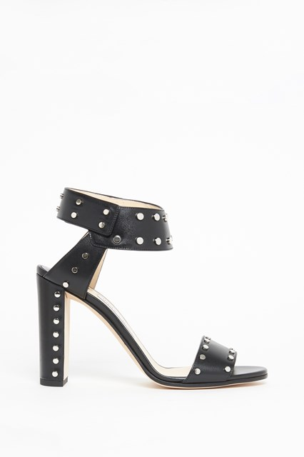 JIMMY CHOO Leather studded sandal