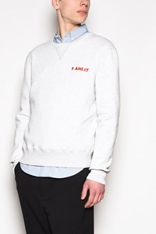 AMI Crew neck 'Family' embroidered sweatshirt